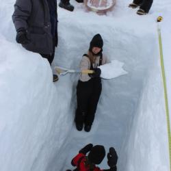 The depth of the Snow Pit is over 2 meters.