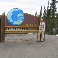 Melissa at the Arctic Circle