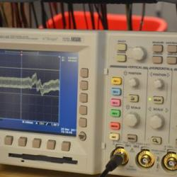 Changing the oscilloscope reading