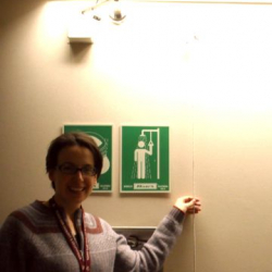 Michelle and the emergency shower