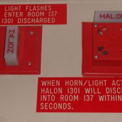 The halon fire alarm