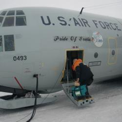 Getting on board the LC-130