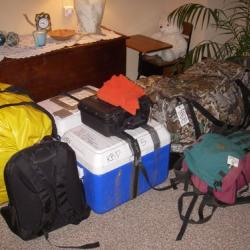 Packed gear for Russia