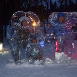 The PolarTREC Teachers at the Ice Park