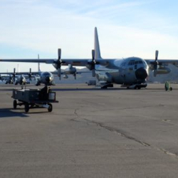 Four LC-130's Lined Up