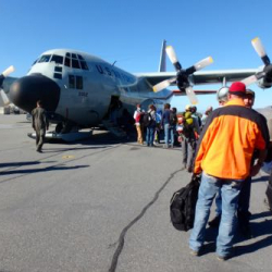 Passengers Boarding Plane in Kangerlussuaq