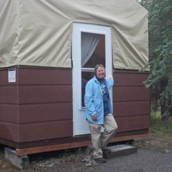 Our tent cabins at the Murie Science and Learning Center Field Camp