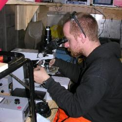 Volker at the Microscope
