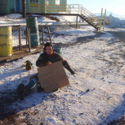 homeless in Antarctica