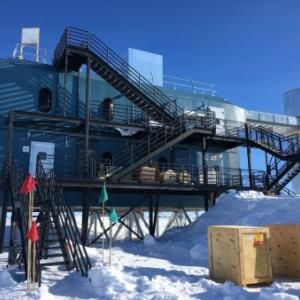 The IceCube Neutrino Observatory. Photo by Kate Miller.