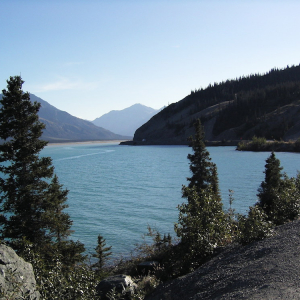 Kluane Lake in Yukon, Canada.