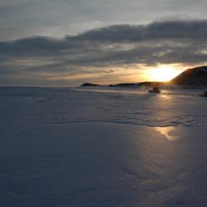 Sunset in Antarctica